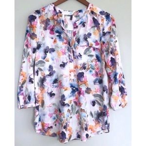 NWOT NYDJ Blouse Watercolor Lightweight Gorgeous